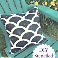 DIY Stenciled Pillows -- and GIVEAWAY!