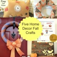 5 Home Decor Fall Crafts