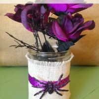 Dollar Store Halloween Craft Idea- Spooky Spider Vase