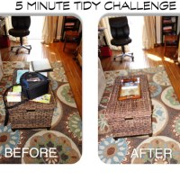 Before And After Photo From Messy Table Challenge