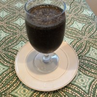 Chocolate Cherry - Spinach Smoothie with a Dash of Hemp - Paleo and Vegan Friendly