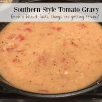 Simple Southern Tomato Gravy Recipe - Grab a biscuit folks, things are getting serious!