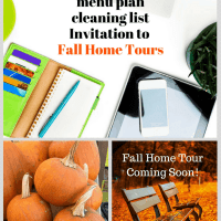 Menu Plan, Cleaning List and An Invitation