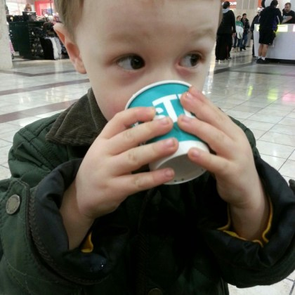 Photo of Cameron Drinking DavidsTea