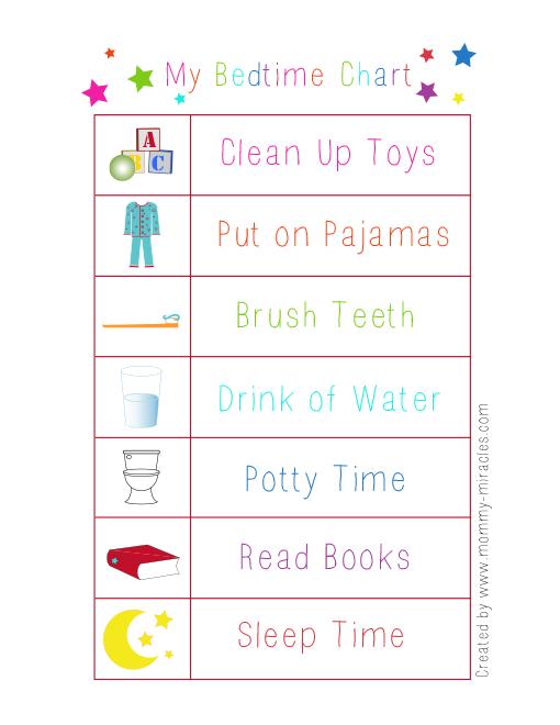 My Bedtime Chart