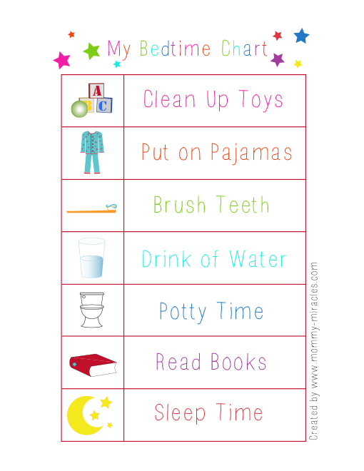 My Bedtime Chart