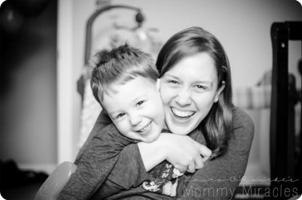 Mommy Hugging Cameron