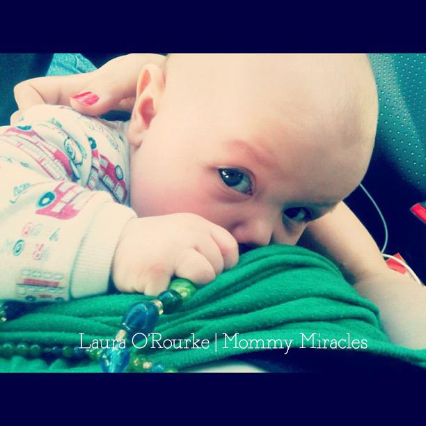 Breastfeeding in the car on a road trip