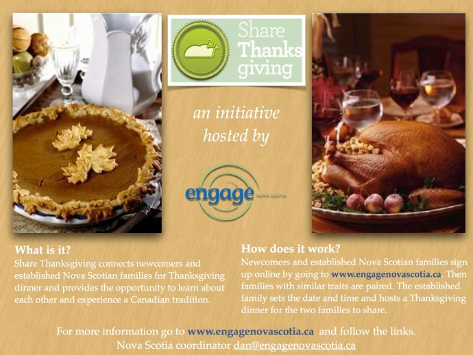 Share Thanksgiving Nova Scotia Flyer