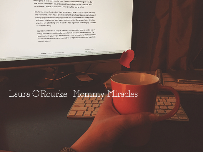 Writing Every Day | Mommy-Miracles.com