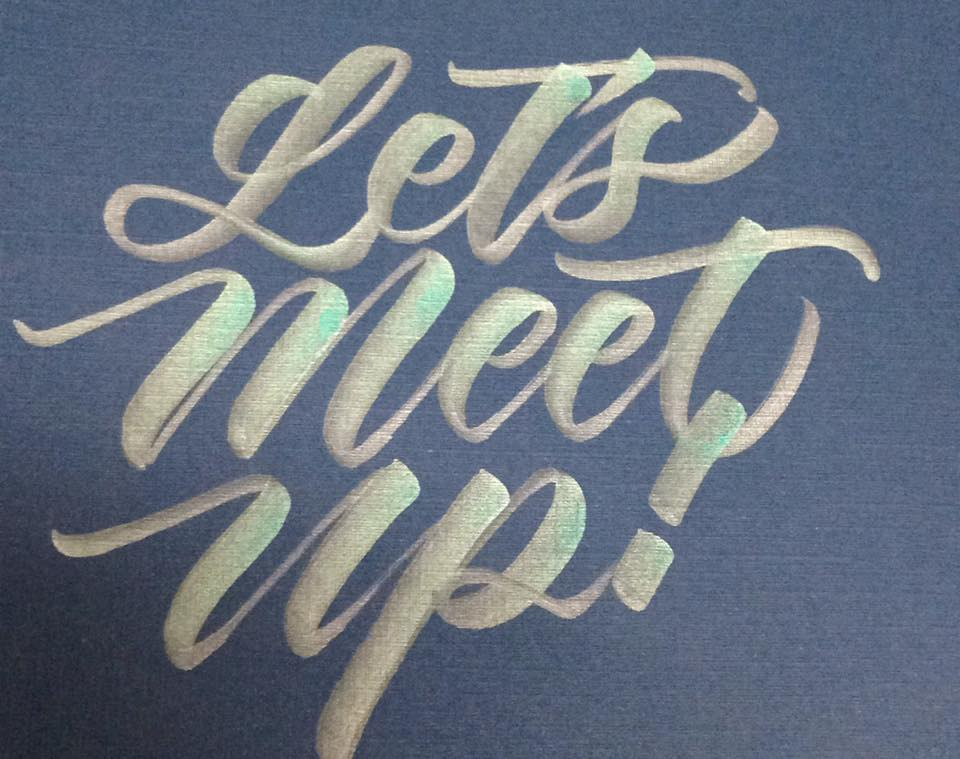 Modern calligraphy meet up on may mommy ginger