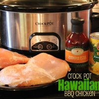 Crock Pot Hawaiian BBQ Chicken - Just 3-Ingredients