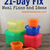 21 Day Fix Menu Plan Ideas