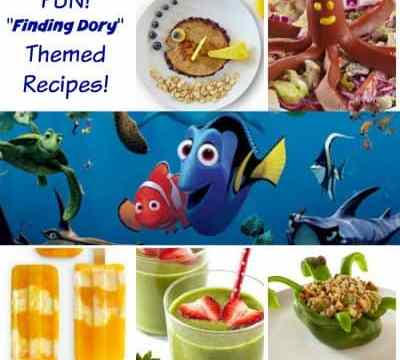 Finding Dory Themed recipe Collage