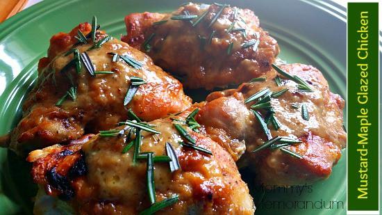 Mustard-Maple Glazed Chicken #recipe