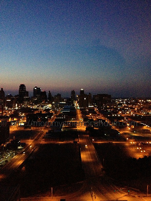 kansas city from the sheraton hotel