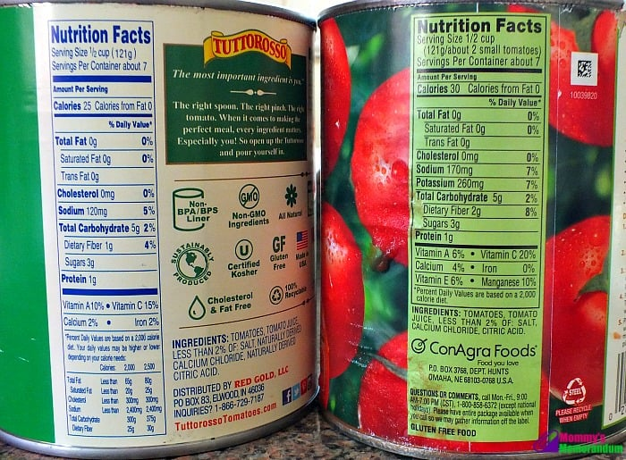 Tuttorosso Tomatoes vs. Hunt's Tomatoes Challenge • Mommy ...