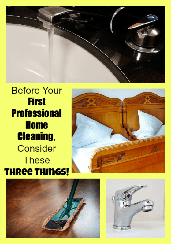 Before Your First Professional Home Cleaning, Consider These Three Things!