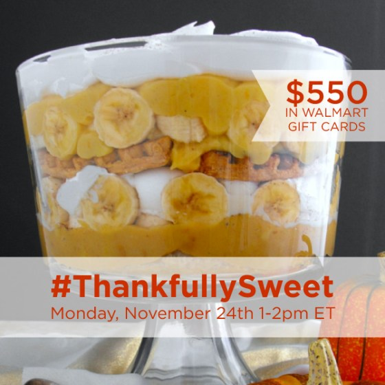 Join me for #ThankfullySweet Twitter Party with $550 in Prizes! #ad