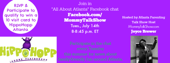 Win Ten Visits to HippoHopp at All About Atlanta Facebook Chat