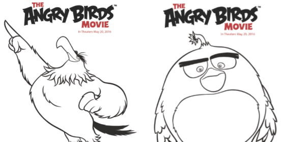 Angry birds movie coloring sheets prize pack giveaway for Angry birds bomb bird coloring pages