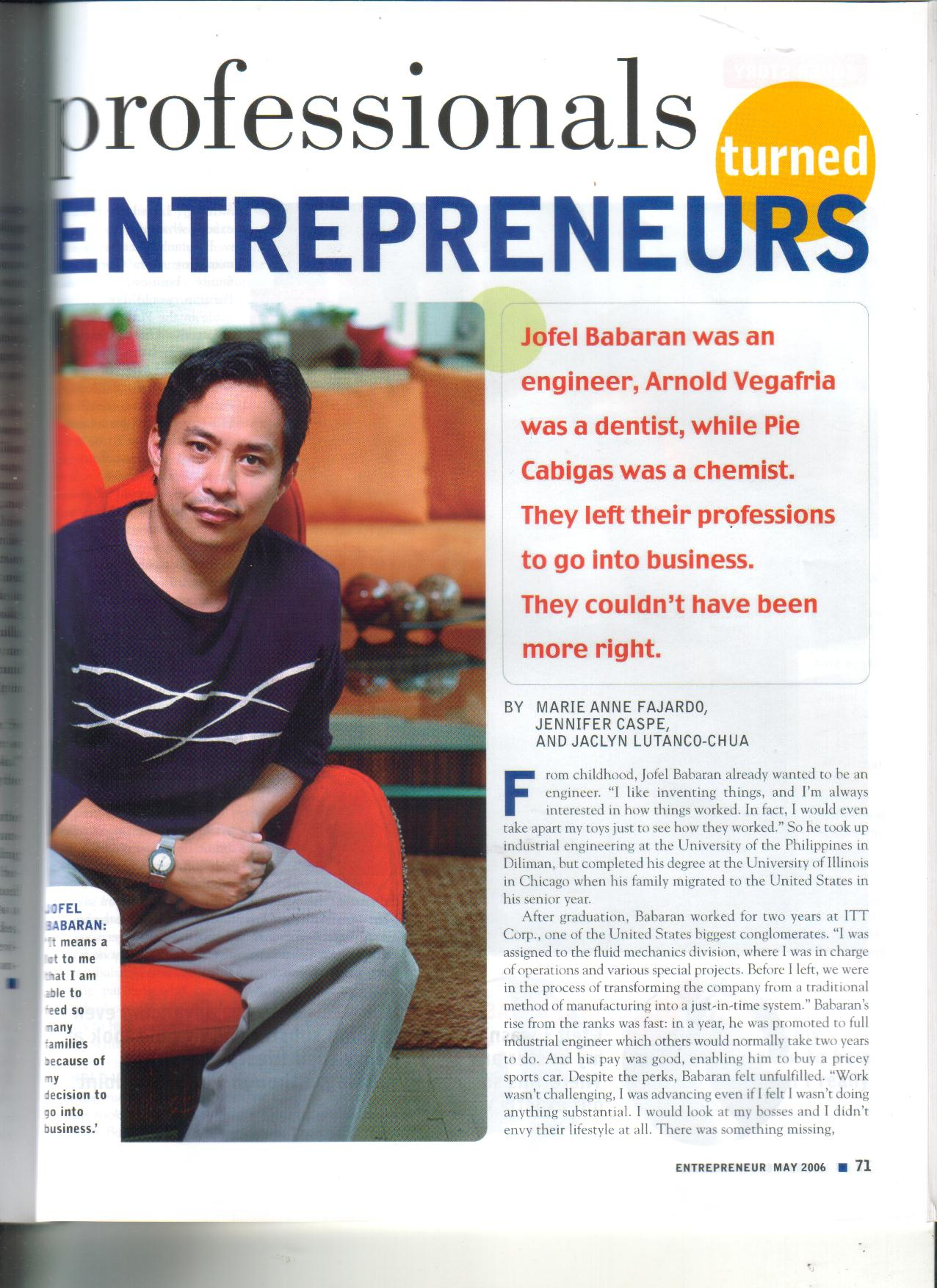 5-06 Professionals Turned Entrepreneurs