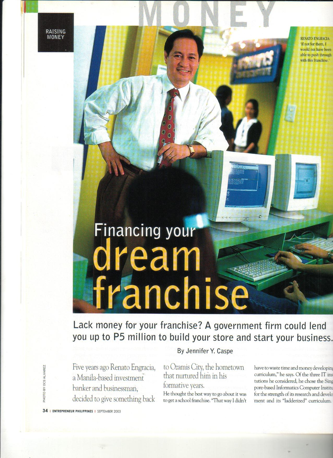 9-03 Financing Your Dream Franchise 1
