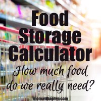 Food Storage Calculator - how much food do you really need?