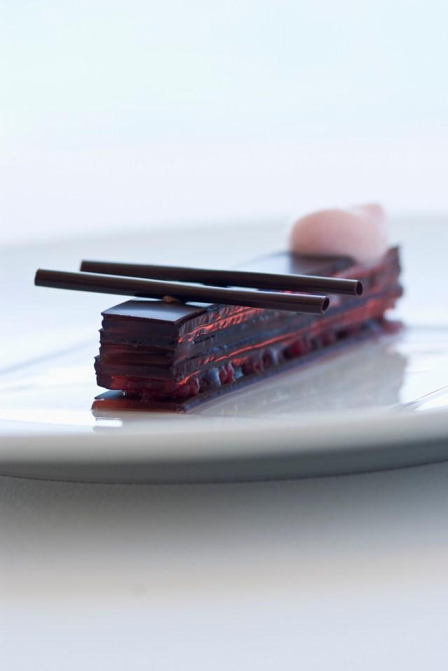 dessert gastronomique au chocolat