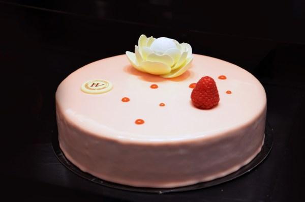 Entremet, Framboise, Rooibos, Hugo & Victor, Fête des Mères, bavarois, gâteau, pâtisserie, Hugues Pouget