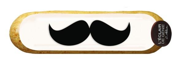 Éclair'stache, fête des pères, éclair de génie, moustache, éclair, christophe adam, pâtisserie