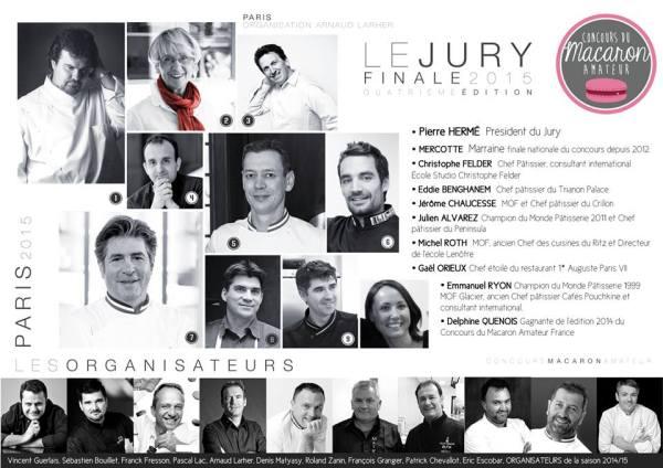Organisateurs, grande finale, Concours Macaron Amateur 2015, pâtissiers, chefs, jury