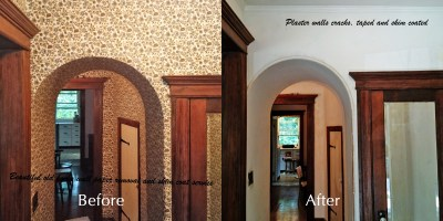 Before & After Photos - Moncast Custom Painting and Drywall
