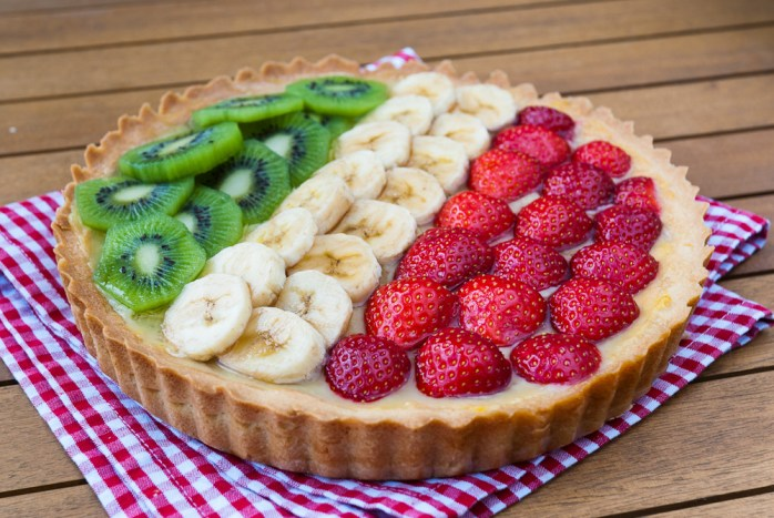 Custard Cream & Summer Fruit Tart