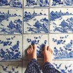 Beautiful Chinese tiles in the Paradesi Synagogue in Fort Cochinhellip