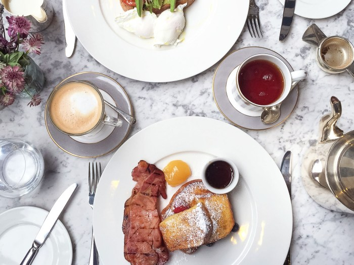 Brunch at Dalloway Terrace - Bloomsbury Hotel, London