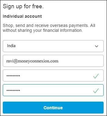 create pay pal account