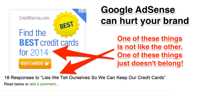 Google AdSense Can Hurt Your Brand