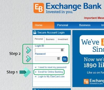 Exchange Bank Online Banking Login — Money Plate