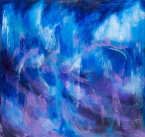 Monika Ruiz Art - Blue Abstraction - Danza Azul Veloz
