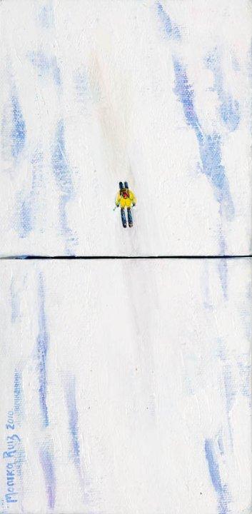 Monika Ruiz Art - Skiing
