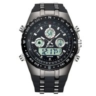 Watches,Men's Sports Watches,Waterproof Analogue And Digital Watch,With Multifunction,Big Face Case,Suit For Outdoor