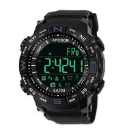 Men Sports Smart Bluetooth Watch, Pedometer Calories Waterproof LED Digital Watch Fitness Running Bracelet Chronograph 50M Waterproof Wristwatches Fashion Chronograph Watches