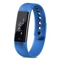 Fitness Tracker, Homogo Smart Band Activity Health Tracker with Slim Touch Screen for Step Distance Calories track, Sleep monitor, pedometer and more (Blue)