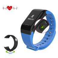 Antimi Fitness Tracker,Smart Watch IP67 waterproof Sweatproof Smart Band with Sleep Heart Rate Blood pressure monitoring blood oxygen monitoring Monitor Pedometer Sport Bracelet for Android ios Blue