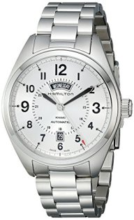 Hamilton Men's H70505153 Khaki Field Analog Display Automatic Self Wind Silver Watch