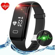 Smart Fitness Tracker, Anmier Heart Rate Fitness Watch Step Track & Sleep MonitorActivity Tracker Waterproof Touch Screen Pedometer Calorie Counter Fitness Bracelet for iPhone & Android phones