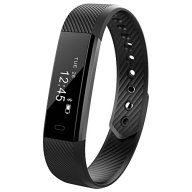 Fitness Trackers MRS LONG YG3 Activity Tracker Bracelet Wristband HR Pedometer Wireless Bluetooth 4.0 Steps Distance Sleep Calorie Swipe Touch Screen Call Message Reminder for Android and iOS (Black)