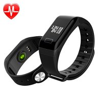 Heart Rate Fitness Tracker Smart Bracelet Wristband Watch Call Remind SPO2H Sleep Monitor Calorie Counter Pedometer Sport Activity Tracker OLED Touch Screen for Android IOS