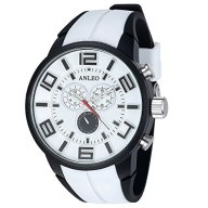 Anleowatch 1PCS White Watch Luxury Men Women Unisex Military Sports Watches Waterproof Quartz Wristwatches